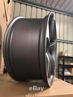 19 Ttrs Style Rotor Roues En Alliage Satin Gun Metal Usinées Audi A4 A6 A8 5x112