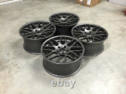 19 X4 Nouveau M3 Csl Style Alloy Wheels Satin Gun Metal Bmw 5x120 E46 E90 Z4 E92