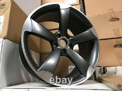 19 X4 Ttrs Rotor Concave Style Alliage Roues Satin Gun Metal Audi A5 A7 S7