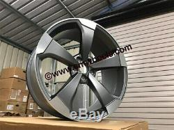 20 2019 Rs3 Ttrs Rotor Style Jantes En Alliage Gun Métal Poli Audi A4 A6 A8