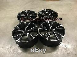 20 2020 Rs7 Performance Style Jantes En Alliage Noir A6 Audi A4 Usinées A8 5x112