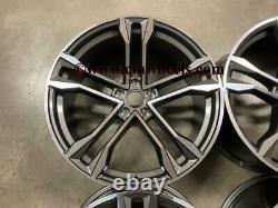 20 2020 Sq8 Style Jantes En Alliage Concave Satin Gun Metal Usinées Audi A5 A6 A7