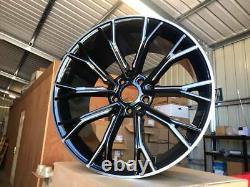 20 669m G30 Style Alloy Wheels Gloss Black Milled Spoke Bmw G30 G31 5x112 66.6
