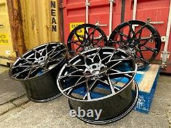20 811m M8 Style Alliage Roues Gloss Black Alliages Bmw G30 G31 G20 5x112 66,6