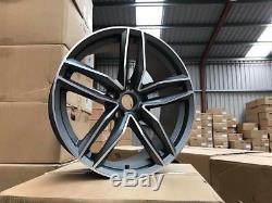 20 Audi Rs6c Style Jantes En Alliage Gun Metal Usinées Audi A5 A7 5x112