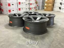 20 Ttrs Deep Concave Style Alliage Roues Satin Gun Metal Audi A4 A6 A8 S4 S6 Rs4