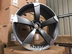 20 Ttrs Rotor Style Alliage Roues Concave Satin Gun Metal Audi A5 A6 A7 A8