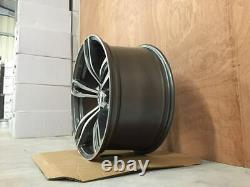 20 X4 Nouveau 343m F10 M5 Style Alloy Wheels Gun Metal Machined Bmw F10 F11 F12 F13