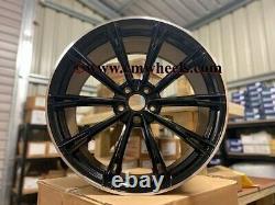 21 2020 Abt Style Alliage Wheels Concave Gloss Black Machined Audi A5 A6 A7 5x112