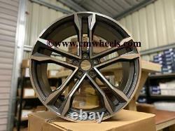 21 2020 Sq8 Style Alliage Roues Concave Gun Metal Poli Audi A5 A6 A7 Q5 Q7