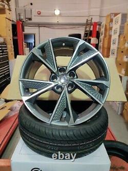 21 Audi A4 A5 A6 A7 A8 Q2 Q3 Q5 Alliage Roues 5x112 Rs7 Style 57017