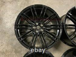 21 X4 Nouveau Porsche Macan Turbo 4+ Style Alliage Roues Gloss Noir 5x112