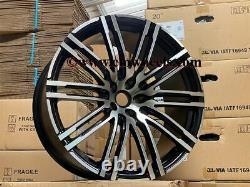 21 X4 Nouveau Porsche Macan Turbo Style Alliage Roues Gloss Noir Poli 5x112