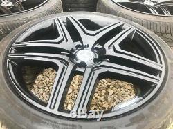 22 Amg Ml63 Style Jantes Gloss Black Mercedes ML Gl Glk R Classe 5x112
