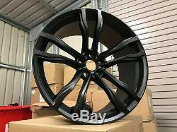 22 Nouveau X5m X6m 612m Style Roues En Alliage Noir Satiné Bmw E70 E71