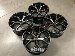 22 X5 X6 741m Style Alliages Roues Gloss Black Machined Bmw E70 E71 F15 F16 F85