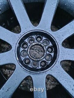 4 X Audi Tt Rs4 Style Mk1 18 5x100 5x112 9 Roues En Alliage À Rayons Avec Pneus Noirs