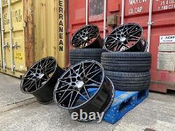 (4x) 20 Roues Alloyées Décalées + Tyres 666m Style Black Bmw 3 4 5 6 Série