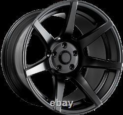 7 Twenty Style 55 Alliage Roue 5x114.3 18x 10.5j Et5 Satin Black Fits Nissan