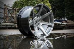 7 Vingt Style 55 Roues En Alliage 5x120 18x 9.5j Et15 Hyper Noir Convient Bmw