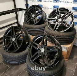 Audi A1 18 Inch Alloy Wheels S1 Style 5x100 Satin Black With New Tyres 2253518