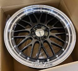Bbs X4 19 LM Style Alliage Roues Noir ML 5x120 8,5 J Bmw 1 2 3 Série