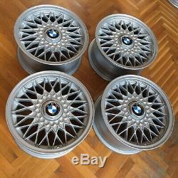 Bmw E30 Style 5 Véritable Euroweaves De Roues En Alliage Oem 7x15 Et24 Rare Bbs Rz