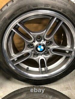 Bmw E39 M-sport Style 66 Alloy Wheels+tyres 8jx17 Ferric Grey/diamond Cut Face