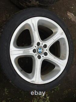 Bmw E53 X5 4x20 4.6is Alloy Wheels 5 Spoke Star Style 87 9.5j 10.5j +tyres #054