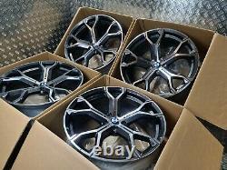 Bmw X5 X6 741m Style 21 Alliage Roues M Sport G05 G06 M50d 5x112 Décalé