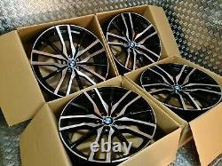 Bmw X5 X6 742m Style 22 Roues En Alliage M Sport G05 G06 M50d 5x112 Agrafé