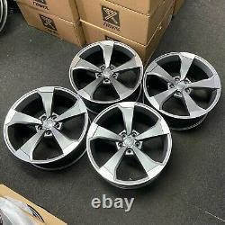 Ex Display 18 Audi Rs3 Rotor Style Alliage Roues Satin Gris Audi A3 + Plus