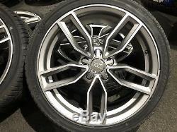 Ex Display 18 Audi S3 Style De Satin Gris Roues En Alliage Et Pneus 225/40/18. Audi A3