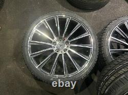 Ex Display 20 Mercedes Amg Turbine Style Alliage Roues 2453520 2753020 Pneus