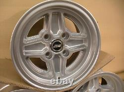 Ford Escort Capri Cortina 7x13 Jeu De Roues En Alliage Jbw Rs4 Style D'éponge Argent 13x7