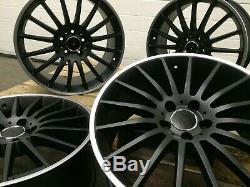 Jantes Alliage 19 Amg Turbine Style Noir / Pol 8j Et 9j Mercedes Classe C W204 W205