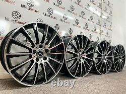 New 20 Mercedes Amg Turbine Style Alloy Wheels 5x112 Black & Diamond Cut