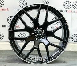 New 21 Mercedes Amg63 Style Alloy Wheels 5x112 Satin Black Diamond Cut