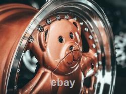 Nouveau 15 Pouces 4x100 4x114.3 Ronal Style Teddy Bear Retro Deep Dish Alliage Roues Vw