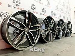 Nouveau 20 Audi Rs Style Jantes 5 X 112 Coupe Grey Diamond Q5 Q7