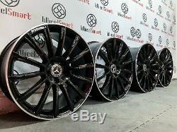 Nouveau 20 Mercedes Amg Turbines Style Jantes 5x112 Black Diamond Cut Lip