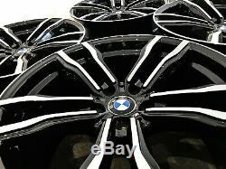 Nouveau 22 Bmw X5msport Style Jantes 5 X 120 Black / Cut X5 X6 Diamond