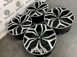 Nouveau Range Rover 22 Style Jantes 5x120 Gloss Black Diamond Cut