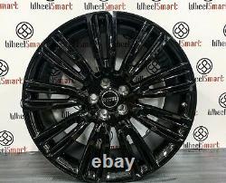Nouveau Range Rover V Style Alliage Roues 5x120 Gloss Noir