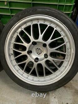Porsche 5x130 Alloy Wheels 996 Toyo 888s Track Tyres Split Rim Cargraphic Style