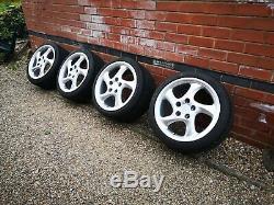 Porsche Style Turbo Twist 18 Roues En Alliage 911 986 993 996 Carrera Boxster