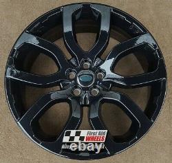 R150bg Échange Range Rover Evoque 4x 20 Genuine Style 5004 Black Alloy Wheels
