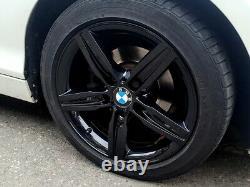 R498bg Exchange Bmw 1 2 Série 4x 17 Genuine Style 379 Gloss Black Alloy Wheels