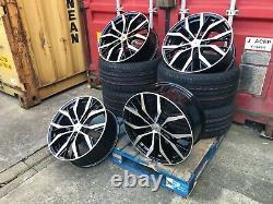 Santiago Style Gti Gtd 19 Pouces Alliage Roues Set De 4 Marques Nouveaux Tyres 19