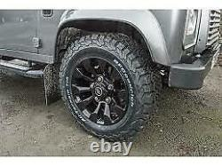 Sawtooth Style Alloy Wheels 18x8 Black Land Rever Defender -4 Wheels